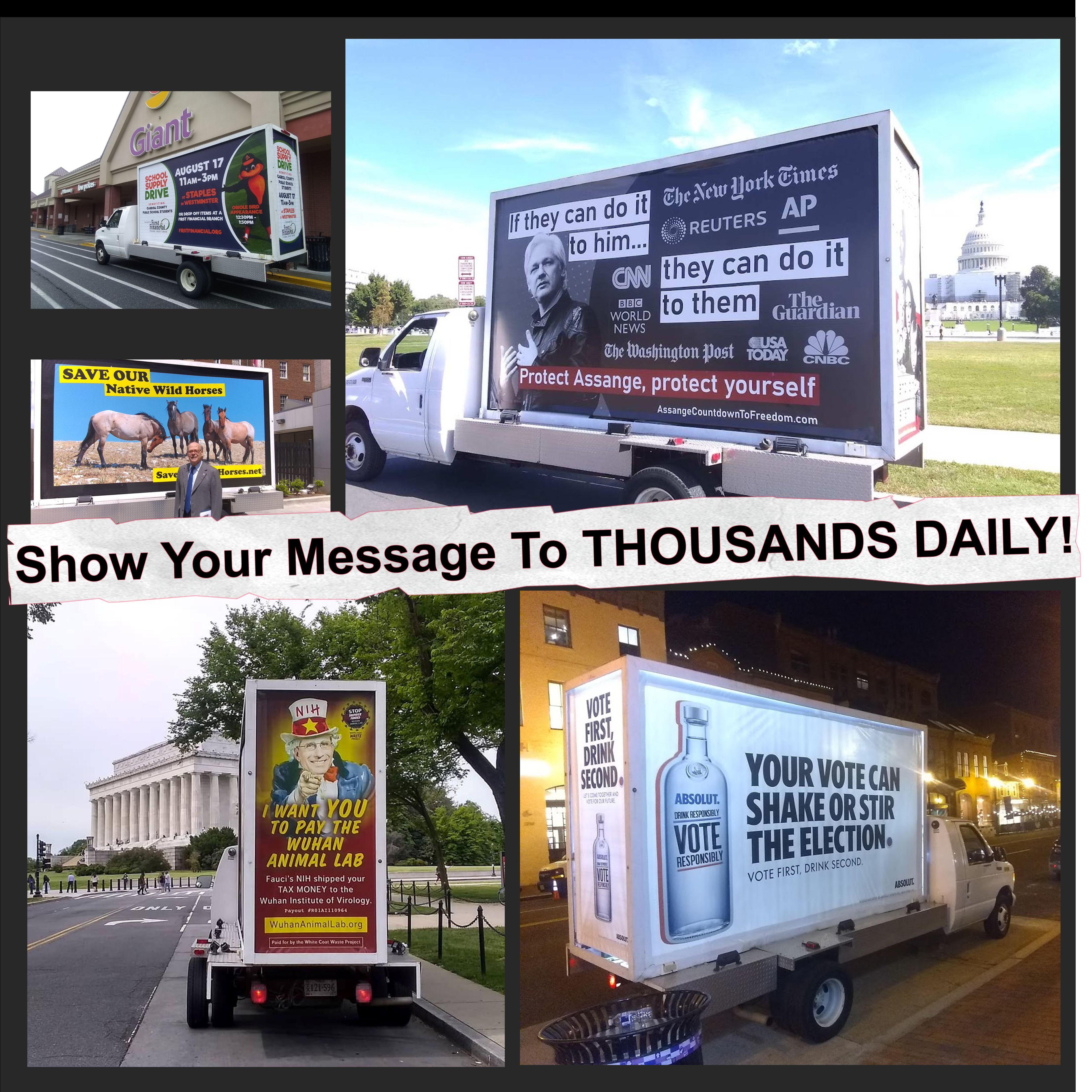 Mobile Billboards In Washington DC Maryland Virginia